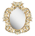 classic vintage frame decor detailed ornament vector image vector image