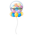 colorful balloons with word congratulation vector image vector image