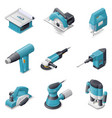 Construction electric tools icon set vector image vector image