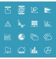 data storage and analysis icons vector image vector image