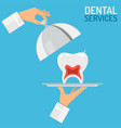 dental services concept vector image vector image