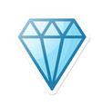 diamond icon in cartoon style with shadow vector image