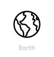 earth icon editable stroke vector image vector image