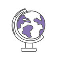 earth planet desk tool decoration vector image vector image