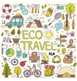 Eco travel element Hand drawing doodles vector image vector image