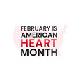 february is american heart month banner design vector image vector image