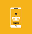 flat design concept e-commerce vector image