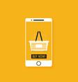 flat design concept e-commerce vector image vector image