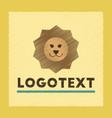 flat shading style icon lion logo vector image