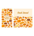 flyers with baked products vector image