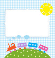 Frame with colorful train vector image vector image