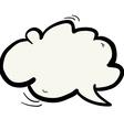 freehand drawn cartoon cloud speech bubble vector image vector image