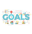 goal word in business concept vector image vector image