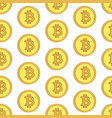 golden coins with bitcoin sign seamless pattern vector image