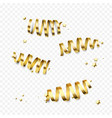 golden gift bow ribbons confetti birthday new vector image