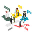 greetings isometric composition vector image