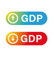 gross domestic product chart button vector image