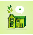 Hand drawn green house vector image vector image