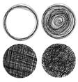 Hand drawn grunge circles vector image vector image
