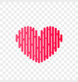 heart logo abstract modern icon vector image