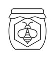honey jar linear icon vector image