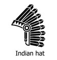 indian hat icon simple black style vector image vector image