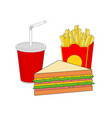 isolated breakfast fast food menu vector image vector image