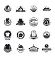 laundry logo service icons set simple style vector image vector image