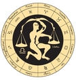 Libra with the signs of the zodiac vector image vector image