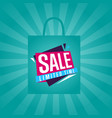 limited time sale sticker on package silhouette vector image vector image