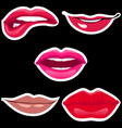 lips patch collection vector image vector image