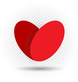 love heart on transparent background vector image vector image