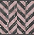 marble luxury herringbone seamless pattern vector image vector image