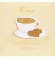 menu coffee shop vector image vector image