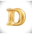 metallic gold d balloons golden letter new year vector image vector image