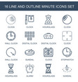 minute icons vector image vector image