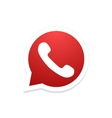 modern phone icon in bubble speech vector image vector image
