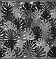 monochrome tropical jungle leaves seamless vector image vector image