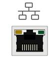 Network ethernet port vector image