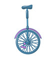 one wheel cycle icon cartoon style vector image