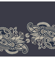 ornamental vintage floral background vector image