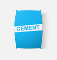 paper clipped sticker bag cement vector image vector image