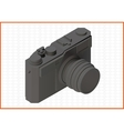 photocamera isometric flat 3d vector image vector image