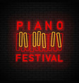 piano symbol neon vector image vector image