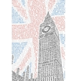 Poster with a picture of Big Ben vector image