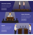 Public speaking design concept set vector image vector image