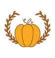 pumpkin fresh with crown vector image
