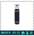 punching bag icon flat vector image