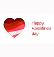 red heart from paper with cut out layers greeting vector image vector image