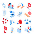 research laboratories icon set vector image